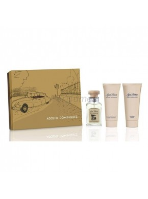 perfume Adolfo Dominguez Set Agua Fresca edt 120ml + Gel 100ml + After Shave 100ml - colonia de hombre