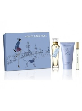 perfume Adolfo Dominguez Estuche Agua Fresca de Rosas edt 120ml + Body Milk 100ml + Mini 10ml - colonia de mujer