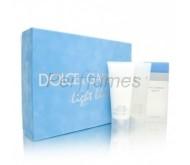 Set Dolce Gabbana Light Blue edt 100ml + Crema Corporal 100ml + Mini7,4 ml