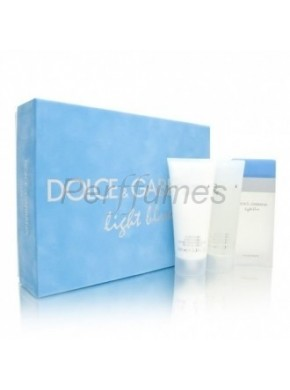 perfume Dolce Gabbana Set Light Blue edt 100ml + Crema Corporal 100ml + Gel 100ml - colonia de mujer