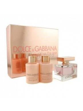 perfume Dolce Gabbana Set Rose The One edp 75ml + Body Milk 100ml + Gel 100ml - colonia de mujer