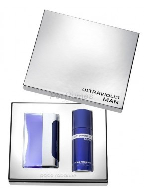 perfume Paco Rabanne Set Ultraviolet Man 100ml + Deo 150ml - colonia de hombre