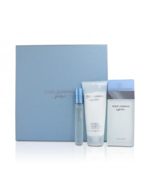 perfume Dolce Gabbana Lote Light Blue edt 100ml + Loción corporal 100 ml + Mini 7,5ml - colonia de mujer