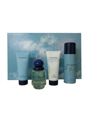 perfume Don Algodon Estuche 100ml + Desodorante Spray 200ml + Body Milk 100ml + Gel 100ml - colonia de mujer