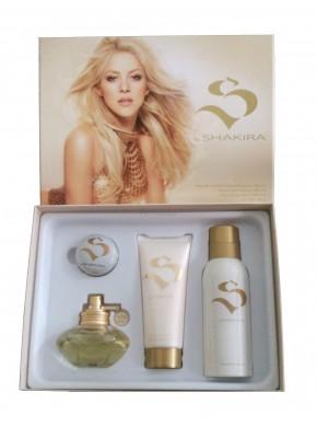 perfume Shakira Estuche S by 80ml edt + Desodorante 150ml + leche corporal 100ml + Balsamo Labial - colonia de mujer