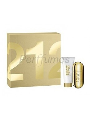 perfume Carolina Herrera 212 Vip edp 50ml + Body Lotion 100ml - colonia de mujer