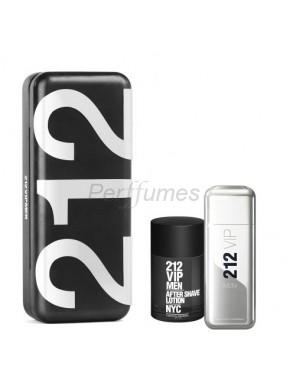 perfume Carolina Herrera 212 Vip Men edt 100ml + After Shave 100ml - colonia de hombre