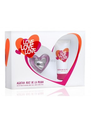 perfume Agatha Ruiz de la Prada Love Love Love edt 50ml + Body Lotion 100ml - colonia de mujer