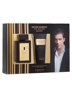 perfume Antonio Banderas The Golden Secret edt 100ml + After Shave 100ml - colonia de hombre