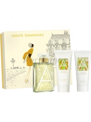 perfume Adolfo Dominguez Azahar edt 100ml + Gel 100ml + Body 100ml - colonia de mujer
