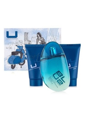 perfume Adolfo Dominguez U blue Man edt 100ml + Gel de Ducha 50ml + Emulsión After Shave 50ml - colonia de hombre