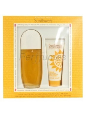 perfume Elizabeth Arden Sunflowers edt 100ml + Body Milk 100ml - colonia de mujer