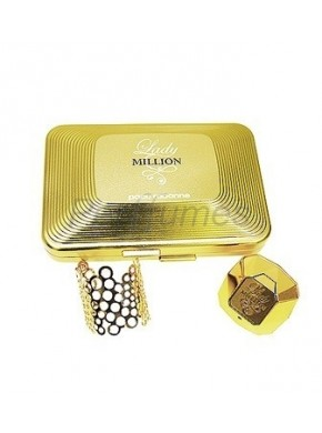 perfume Paco Rabanne Lady Million edp 50 ml + Brazalete - colonia de mujer