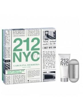 perfume Carolina Herrera 212 edt 60 ml + Body milk 100ml - colonia de mujer
