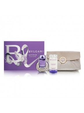 perfume Bvlgari Omnia Amethyste edt 65ml + Body Milk 75ml + Neceser - colonia de mujer