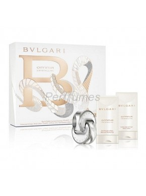 perfume Bvlgari Omnia Crystalline edt 40ml + Body Milk 75ml + Gel 75ml - colonia de mujer
