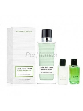 perfume Angel Schlesser Madera de Naranjo edt 100ml + Gel 40ml + After Shave 40ml - colonia de hombre