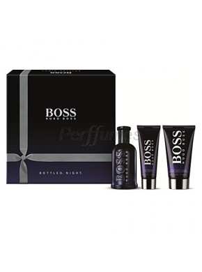 perfume Hugo Boss Bottled Night edt 100ml + Gel 50ml + After Shave 75ml - colonia de hombre