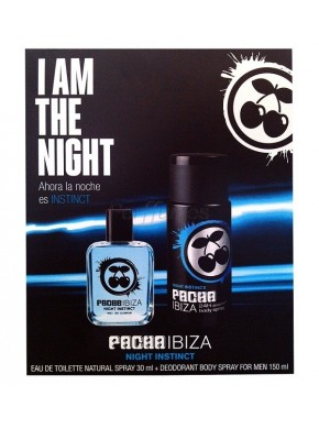 perfume Pacha Ibiza Night Instinct edt 30ml + Deo Spray 150ml - colonia de hombre