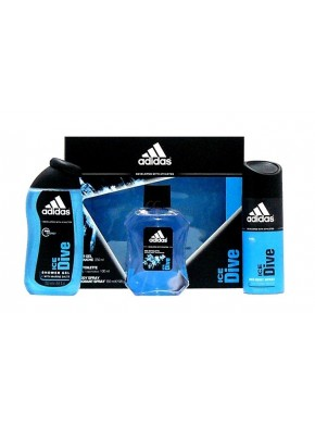 perfume Adidas Ice Dive edt 100ml + Gel 250ml + Deo 150ml - colonia de hombre