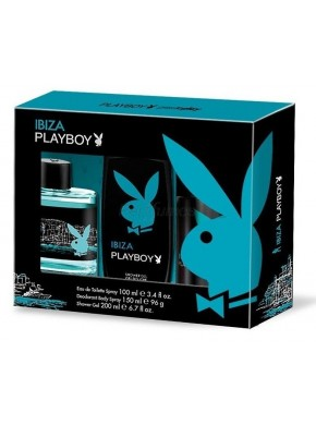 perfume PlayBoy Ibiza edt 100ml + Deo 150ml + Gel 250ml - colonia de hombre