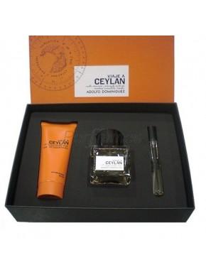 perfume Adolfo Dominguez Viaje a Ceylan edt 100ml + After Shave 100ml + Mini 10ml - colonia de hombre