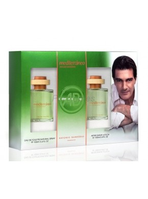 perfume Antonio Banderas Mediterraneo edt 100ml + After Shave 100ml - colonia de hombre