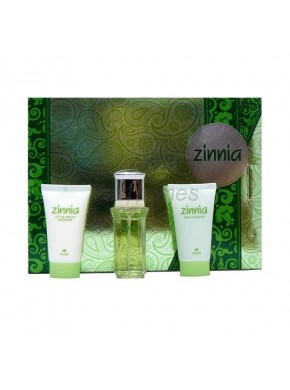 perfume Puig Zinnia edt 50ml + Body Lotion 50ml + Gel 50ml - colonia de mujer