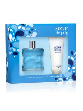 perfume Puig Azur eau Fraiche 100ml + Body Lotion 100ml - colonia de mujer