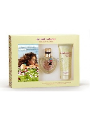 perfume Rosario Flores De Mil Colores edt 100ml + Body Lotion 100ml - colonia de mujer