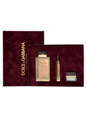 perfume Dolce Gabbana Pour Femme edp 100ml + Body Cream 30ml + Mini 6ml - colonia de mujer