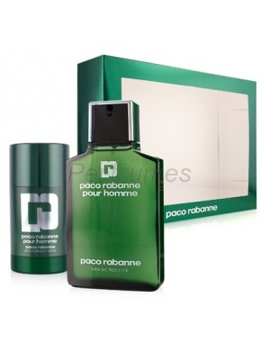 perfume Paco Rabanne Homme edt 100ml + Deo Stick 75ml - colonia de hombre