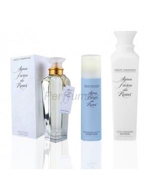 perfume Adolfo Dominguez Agua Fresca de Rosas edt 120ml + Leche Hidratante 500ml + Desodorante 150ml - colonia de mujer