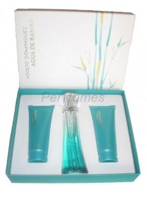 perfume Adolfo Dominguez Estuche Agua de Bambu edt 100ml + Gel 100ml + BodyMilk 100ml - colonia de mujer