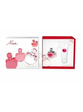 perfume Nina Ricci Set Nina edt 80ml + Body Milk 200 ml - colonia de mujer